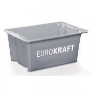 EUROKRAFT Drehstapelbehälter aus lebensmittelechtem Polypropylen Inhalt 6 Liter, VE 4 Stk, grau