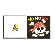 Pirate Party Napkins - 16 Pirate napkins for children parties. 33cm wide. 2 ply tissue. Matching party tableware available.