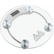 POWERNRI WS-300A DVZX-5609 Personal Weight Machine 6mm Round Glass Weighing Scale Weighing Scale(Transparent)