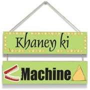 100yellow Khane Ki Machine Wall Door Hanging Board Plaque Sign For Wall Dcor (7 X 12 Inch)