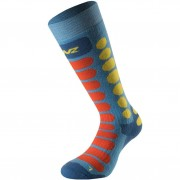 Lenz Socks Skiing Kids 1.0 azur/orange