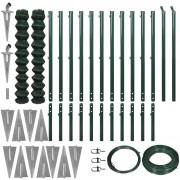 vidaXL Drátěný plot set s ukotvením 1,97x25 m zelená