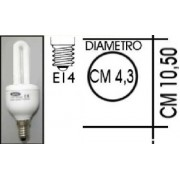 Lampada risparmio energetico 11W E14 2 tubi Kapta