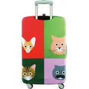 LOQI Pokrowiec na walizkę LOQI Stephen Cheetham Cats