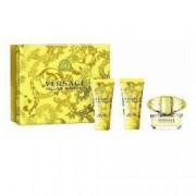 Set Cadou Versace Yellow Diamond Femei Apa de Toaleta 50 ml + Lotiune Corp 50 ml + Gel Dus 50 ml