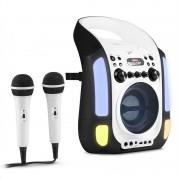 Auna KARA ILLUMINA караоке машина CD USB MP3 LED светлинно шоу 2 X микрофона портативна черна (MG3-KaraIlluminaBK)