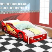 Cama Infantil / Mini Cama Carro 95 Com Colchão 150x70cm - Vermelho / Branco - RPM Móveis