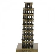 Alcoa Prime Leaning Tower of Pisa Model Furnishing Articles Metal Home Crafts for Decor.