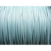 Vaxad Polyestertråd - Turkos, 1mm, 1 rulle, ca 91m