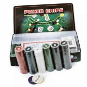 Set de poker 300 Chipuri marcate valoric Cutie Metalica