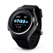 Ceas Inteligent pentru copii WONLEX KT06 Negru, cu GPS, rezistent la apa, localizare WiFI si monitorizare spion