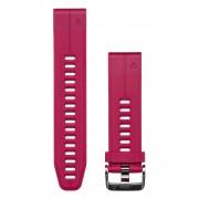 Garmin QuickFit 20 Silikon - Klockarmband - Körsbärröd