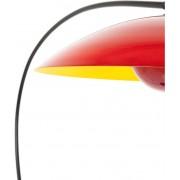 Kare Design - Vloerlamp Mars - Rood - Zwart Frame