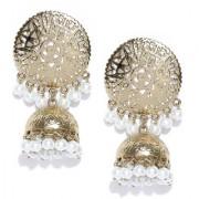 Zaveri Pearls Dome Shape Pearl Drops Jhumka Earring-ZPFK6514