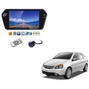 7 Inch Full HD Bluetooth LED Video Monitor Screen with USB Bluetooth + 8 LED Reverse Parking Camera For Tata Indigo eCS