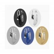 Audífonos Bluetooth, FF Beats Estereo Hd Deportivos Luciérnaga Diseño Ocultado Auriculares En El Oído Audifonos Manos Libres Inalámbrico Voz Recordatorio Para Sony Iphone Samsung (blanco)