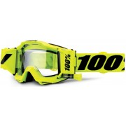 100% Accuri Forecast Fluo Yellow Motocross Goggles Yellow One Size
