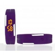 ons india Digital Purple LED Sports Unisex Watch-LED-011