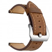 Genuine Leather Watch Strap Smart Watch Band for Huawei Watch GT / Watch 2 / Watch Magic - Brown