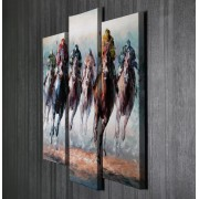 Tablou CANVAS 3 piese Horses