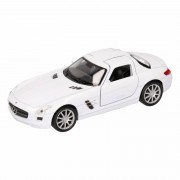 Mercedes Speelgoed Mercedes SLS AMG witte Welly autootje 11,5 cm