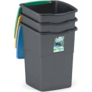 kis 6713422 Set 3 Pattumiere Recycling Plastica 50 Litri - 6713422