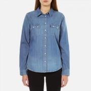 Levi's Women's Modern Sawtooth Relaxed Fit Shirt - Ritter Vintage - XS/UK 6 - Blue