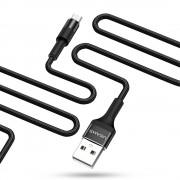 Micro USB / USB data кабел / захранване USAMS Fast Charging 1.63A (черен)