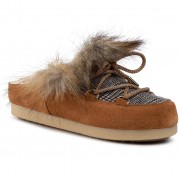 Пантофи MOON BOOT - Far Side Sabot Faux Fox Fur 242013001 Whisky