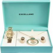 Set cadou ceas dama Excellanc Sunset Elite ceas cercei lantisor pandativ gold 1800175-001