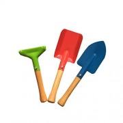 Goodtime 3Pcs Outdoor Gardening Kit Garden Tools Set, Including 2 Rake, 1 Shovel Childrens Kids Beach Sandbox Toy