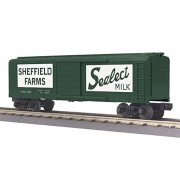 MTH TRAINS; MIKES TRAIN HOUSE MTH MTH3074864 O-27 Rounded Roof Box Seffield Farms