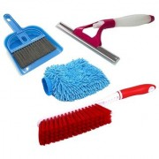 De Ultimate Combo Of Mini Dustpan Broom Set Carpet Cleaning Brush Microfiber Glove With NonScratch Sprayer Glass Wiper