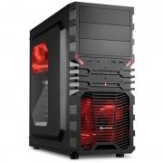 Carcasa VG4-W, MiddleTower, Fara sursa, Negru/Rosu