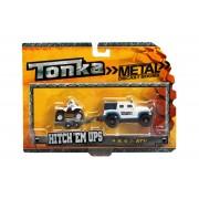 Minimodel metalic cu remorca si ATV alb