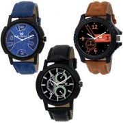 Armado AR-111661 Combo Of 3 Elegant Analog Watches-For Men