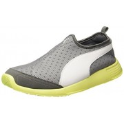 Puma Unisex's St Trainer Evo Slip-On Dp Quiet Shade and Safety Yellow Running Shoes - 5 UK/India (38 EU) (36215408)