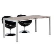 Uitschuifbare tafel 'PURE' met notenhout afwerking - 170(260)x90 cm