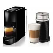 Krups Máquina de Café Nespresso Essenza Mini XN1118P2 & Aeroccino3 (19 bar - Preto)