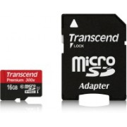 Transcend Premium 16 GB MicroSDHC Class 10 45 MB/S Memory Card(With Adapter)