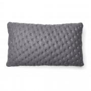 Kave Home Capa de almofada acolchoada Kam 30 x 50 cm cinzenta