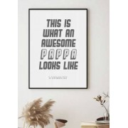 Personlig poster, Awesome dad (18x24 cm)