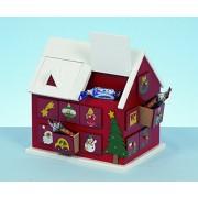Life is Good Wooden Christmas Festive House Xmas Advent Calendar 20Cm Tall