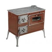 Soba de gatit Fantazia pe lemne, cu plita si cuptor, 6 kW, 80x75x43,7 cm