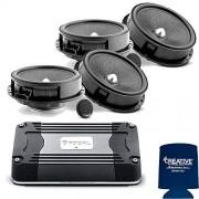 Focal-JMlab Kit para Golf 6/Bora/Jetta MK6 09-14 Incluye dos pares de altavoces IS165VW de 6.5 pulgadas y amplificador FDS4.350