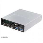 Čítačka kariet AKASA USB 3.0 s eSata a USB panelom