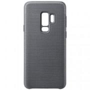Pachet Samsung Galaxy S9 Plus G965 Husa SAMSUNG Textil HyperKnit Cover Gri + Folie Sticla securizata 3D Full Cover Negru