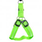 Svietiaca LED postroj pre psov zelený