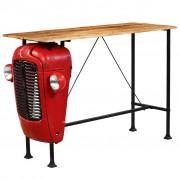 """Sonata Бар маса """"Трактор"""", мангово дърво масив, червена, 60x150x107 см"""