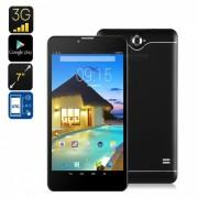 """Tablet PC con Android 3G de 7"""" con doble imei? soporte 3G? bluetooth? google play? cuatro nucleos? bateria de 2500 mah - negro"""